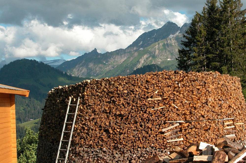 Stock de bois pour la fabrication du fromage