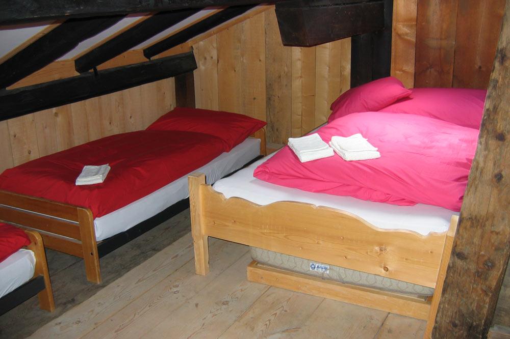Chambres à coucher du chalet Mittlist Morgeten