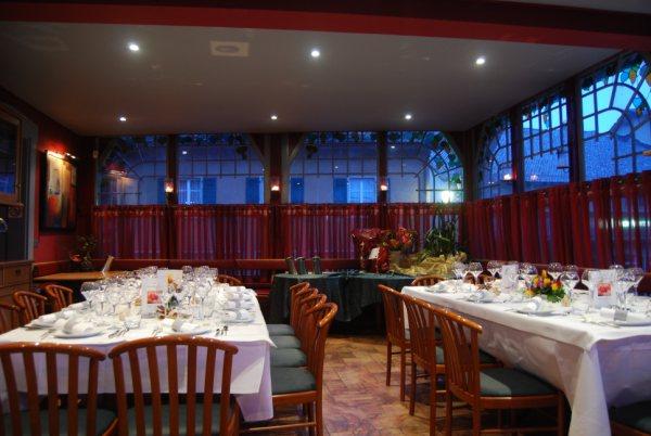 Salle de banquet du restaurant La Gare