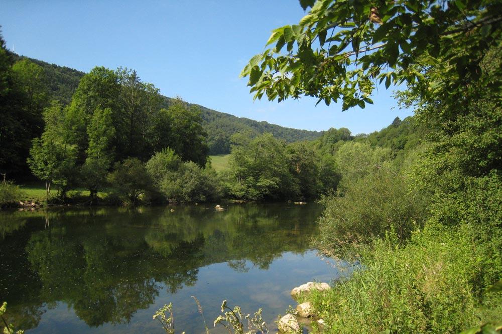 Le Doubs entre Soubey et Saint Ursanne