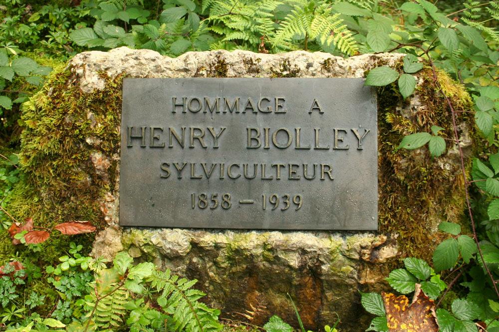 Plaque commémorative à la mémoire de Henry Biolley