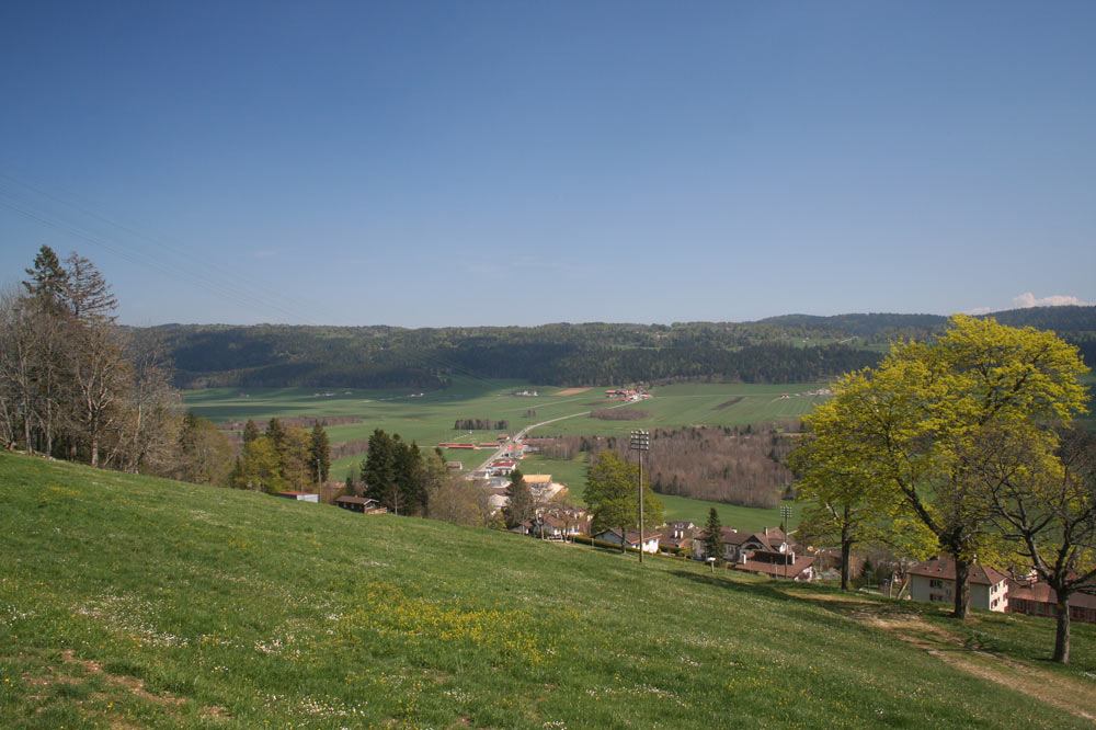 Vue sur la vallée des Ponts-de-Martel