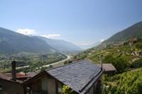 Vue sur la plaine du Rhône depuis Ban