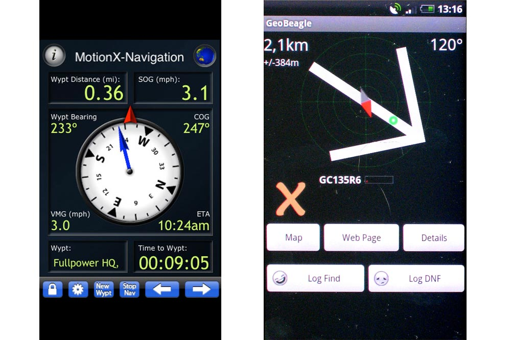 Motion X Lite et Geobeagle