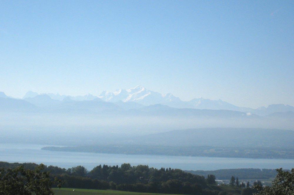 Vue sur le Mont-Blanc depuis l'Espace Gasser
