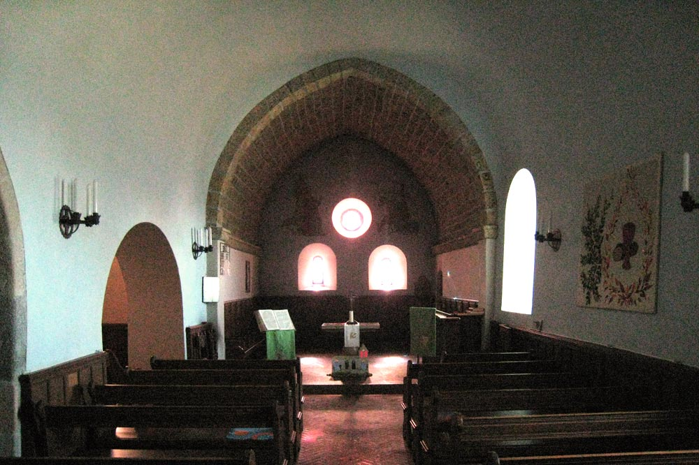 Intérieur de l'église de Bassins
