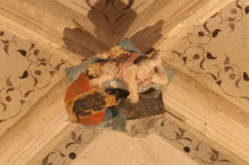 Ecussons sur le plafond de l'église d'Orbe