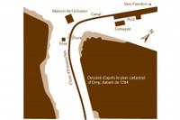 Schéma du port d'Entreroches