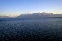 Le lac Léman et la Dent d'Oche