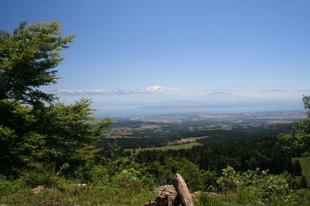 Place de pic-nic avec vue sur le Mont Blanc